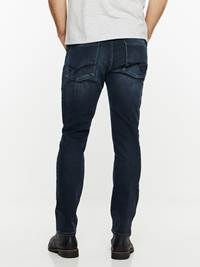 SLIM WILL BLUE OVERDYED STRETCH JEANS 7239664_DAB-HENRYCHOICE-A19-Modell-back_30227_SLIM WILL BLUE OVERDYED STRETCH JEANS DAB.jpg_Back||Back