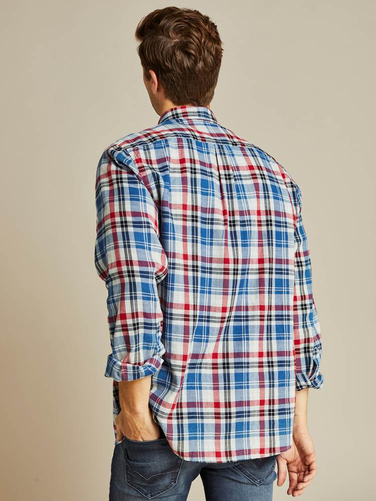 Indigo Check Skjorte - Regular Fit 7238753_D03-JEANPAUL-A19-Modell-back_47111_Indigo Check Skjorte - Regular Fit D03.jpg_Back||Back