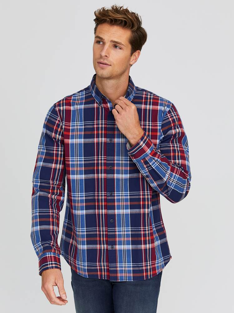 Severin Check Skjorte - Regular Fit 7244203_EGG-JEANPAUL-A20-Modell-front_40921_Severin Check Skjorte - Regular Fit EGG.jpg_Front||Front
