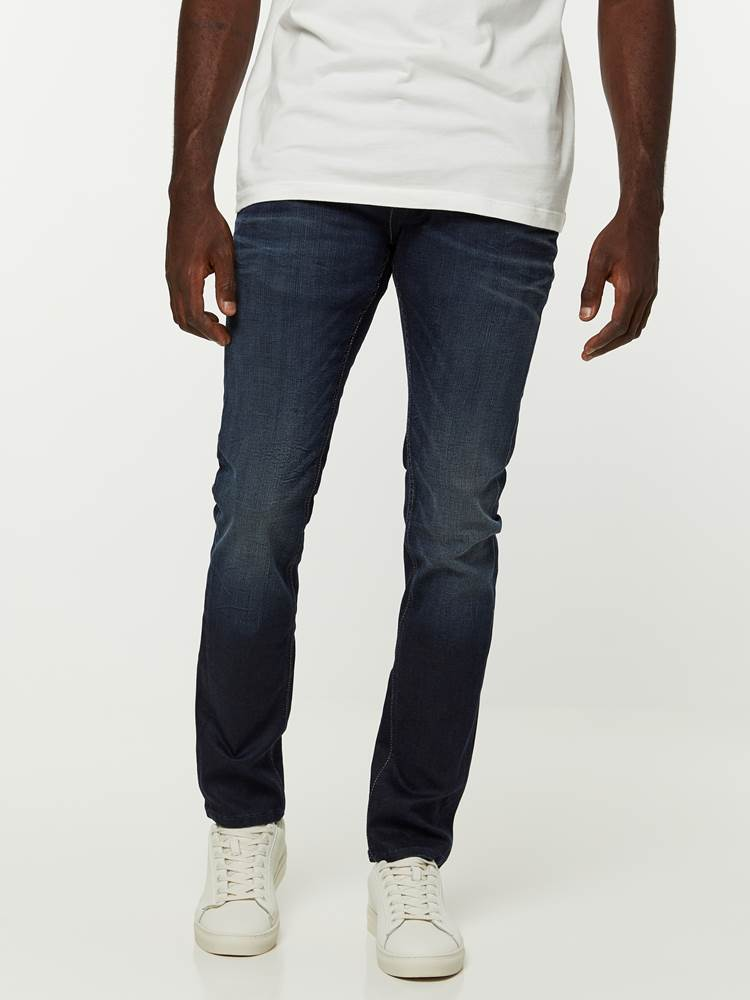 SKINNY SID BLUE COATED STRETCH JEANS 7239672_D04-HENRYCHOICE-NOS-Modell-front_34327_SKINNY SID BLUE COATED STRETCH JEANS D04.jpg_Front||Front
