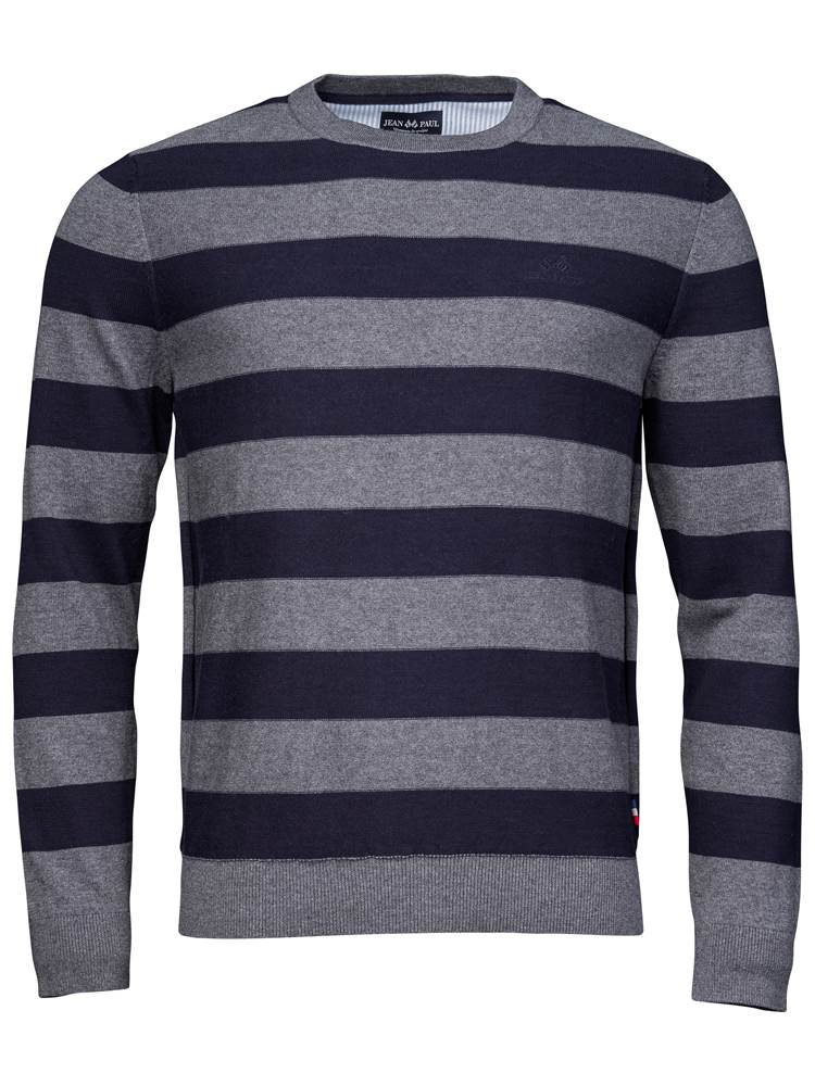 Gard Stripet Genser 7234223_EM6-JEANPAUL-A18-front_Gard Stripet Genser EM6_Gard Two Coloured Stripe Knit.jpg_
