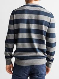 Gard Stripet Genser 7234223_JEAN PAUL_GARD TWO COLOURED STRIPE KNIT_BACK_L_EM6_Gard Stripet Genser EM6.jpg_