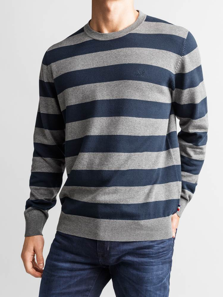 Gard Stripet Genser 7234223_JEAN PAUL_GARD TWO COLOURED STRIPE KNIT_DETAIL_L_EM6_Gard Stripet Genser EM6.jpg_