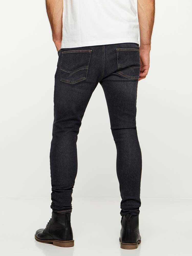 SKINNY STAN BLACK YD SUPER STRETCH JEANS 7239684_D06-HENRYCHOICE-A19-Modell-back_73402_SKINNY STAN BLACK YD SUPER STRETCH JEANS D06.jpg_Back||Back