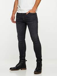 SKINNY STAN BLACK YD SUPER STRETCH JEANS 7239684_D06-HENRYCHOICE-A19-Modell-left_39392_SKINNY STAN BLACK YD SUPER STRETCH JEANS D06.jpg_Left||Left