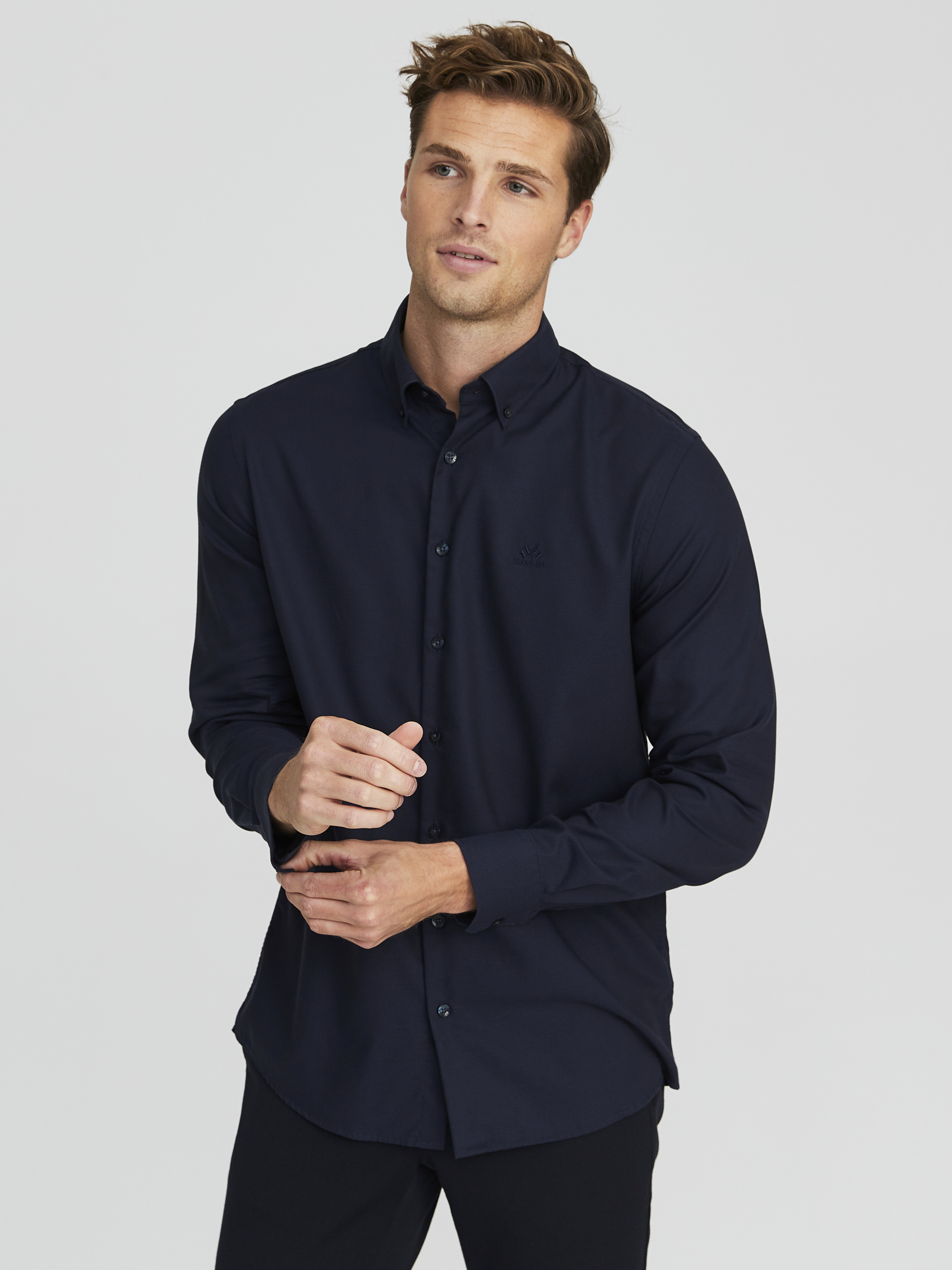 Oliver Skjorte Regular Fit Vista Blue | MATCH nettbutikk