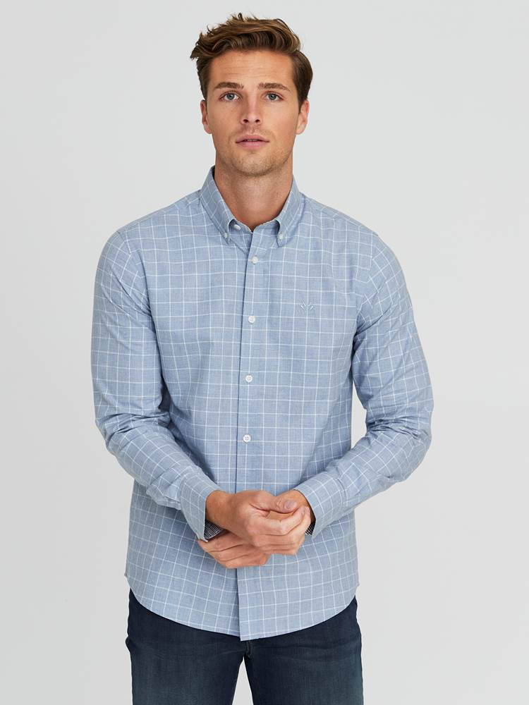 Marc Twill Skjorte - Regular Fit 7244257_E9O-JEANPAUL-A20-Modell-front_3579_Marc Twill Skjorte - Regular Fit E9O.jpg_Front  Front