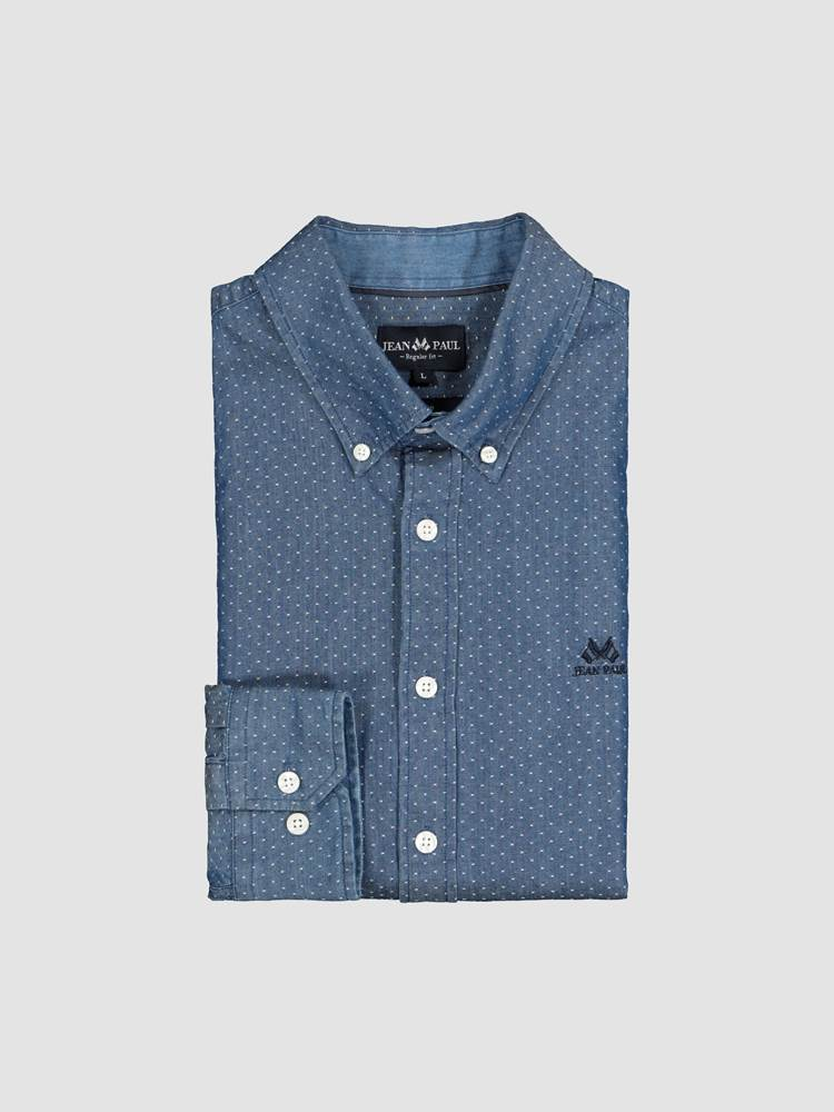 Indigo Dobby Skjorte - Regular Fit